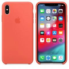 Чехол Apple iPhone Xs Max Silicone Case Nectarine Copy