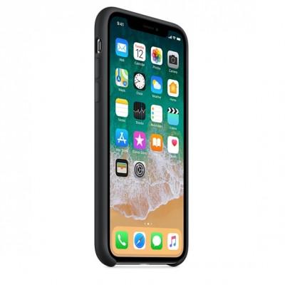 Чехол Apple iPhone X Silicone Case - Black копия