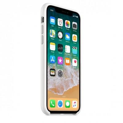 Чехол Apple iPhone X Silicone Case - White