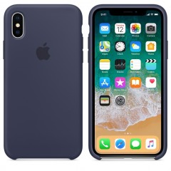 Чехол Apple iPhone Xs Max Silicone Case Midnight Blue Copy
