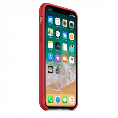 Чехол Apple iPhone X Silicone Case - (PRODUCT)RED