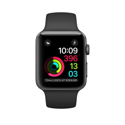 Apple Watch Sport Series 2 42mm Space Gray Aluminum Case with Black Sport Band (MP062)