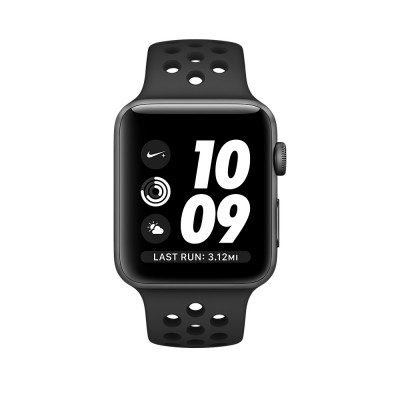 Apple Watch Series 2 Nike+ 38mm Space Gray Aluminum Case with Anthracite/Black Nike SportBand(MQ162)