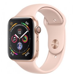 Apple Watch Series 4 40mm Gold Aluminum Case with Pink Sand Sport Band (MU682)