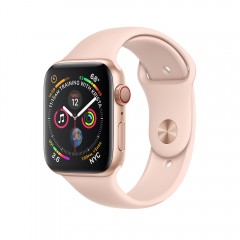 Apple Watch Series 4 GPS+Cellular 40mm Gold Aluminum Case with Pink Sand Sport Band (MTUJ2)