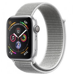 Apple Watch Series 4 40mm Silver Aluminum w. Seashell Sport Loop (MU652)