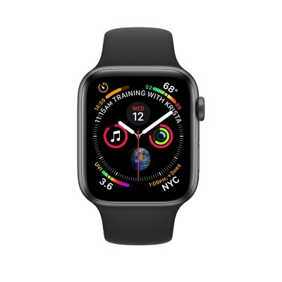 Apple Watch Series 4 GPS+Cellular 40mm Space Gray Aluminum Case Black Sport Band (MTVD2)