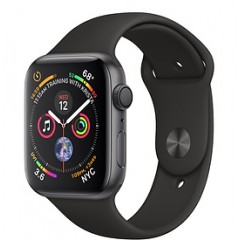 Apple Watch Series 4 40mm Space Gray Aluminum w. Black Sport Band (MU662)
