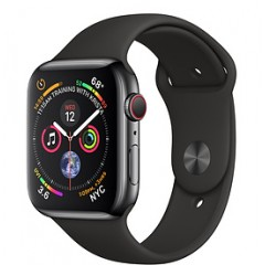 Apple Watch Series 4 40mm GPS + Cellular,  Space Black Stainless Steel Case with Black Sport Band