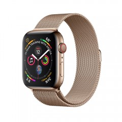 Apple Watch Series 4 GPS+Cellular 40mm Gold Stainless Steel Case w. Gold Milanese Loop (MTUT2)