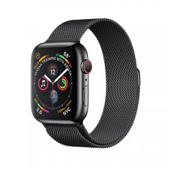 Apple Watch Series 4 G+C 44mm Space Black Stainless Steel Case with Space Black Milan Loop (MTV62)