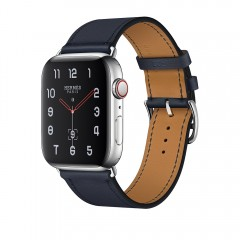 Apple Watch Hermès 44mm GPS+C St.Steel Case with Bleu Indigo Swift Leather Single Tour MU6W2