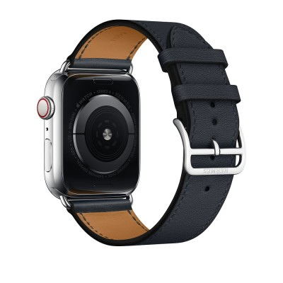 Apple Watch Hermès GPS+C 44mm St.Steel Etoupe Swift Leather Single Tour MUH02