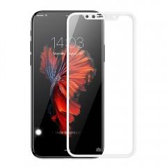 Защитное стекло Baseus 0.2mm Silk-screen Anti-bluelight Tempered Glass Film For iPhone X White