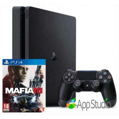 Sony PlayStation 4 (PS4) Slim 500Gb Mafia 3 Bundle (Русская версия)