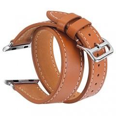 Ремешок Apple Watch 42mm Double Leather Series Brown