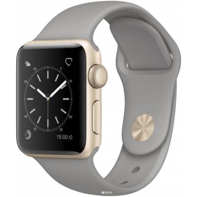 Apple Watch Sport Series 2 38mm Gold Aluminum Case with Concrete Sport Band  (MNP22)