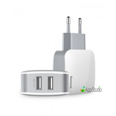 Сетевое зарядное устройство Baseus Letour Dual U Charger (EU) White/Gray