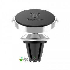 Автодержатель Baseus Small ears series Magnetic suction bracket(Air outlet type)Silver