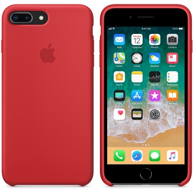 Чехол Apple iPhone 8 Plus Silicone Case - (PRODUCT)RED
