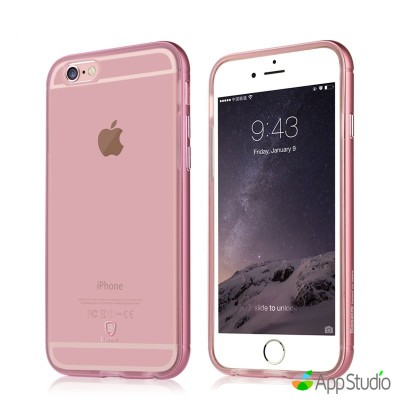 Чехол Baseus Golden Series For iPhone 6/6S Transparent Rose Gold